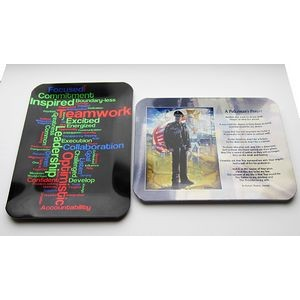"3 3/4""x 4 7/8"" Utility Tray/ Award Plaque with a Full color, sublimated imprint. Made in the USA"