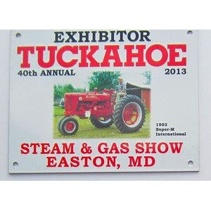 Aluminum ID Plate/ Dash Plaque falling between 15-19.9 sq. in w/ a Full Color, Sublimated imprint.