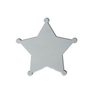 "Sublimation Printable Blank Star Badge Pin - 5 Point (2 1/4""x2 1/4"")"