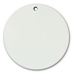 "Sublimation Printable Blank Dynasub Aluminum Circle Key Tag (2 3/4"" Diameter)"